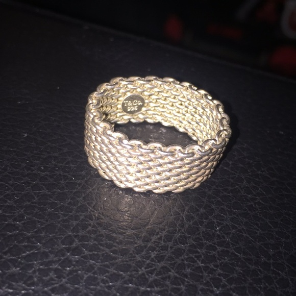 ddf5ca1b0a4e1 Tiffany & Co mesh ring size 7